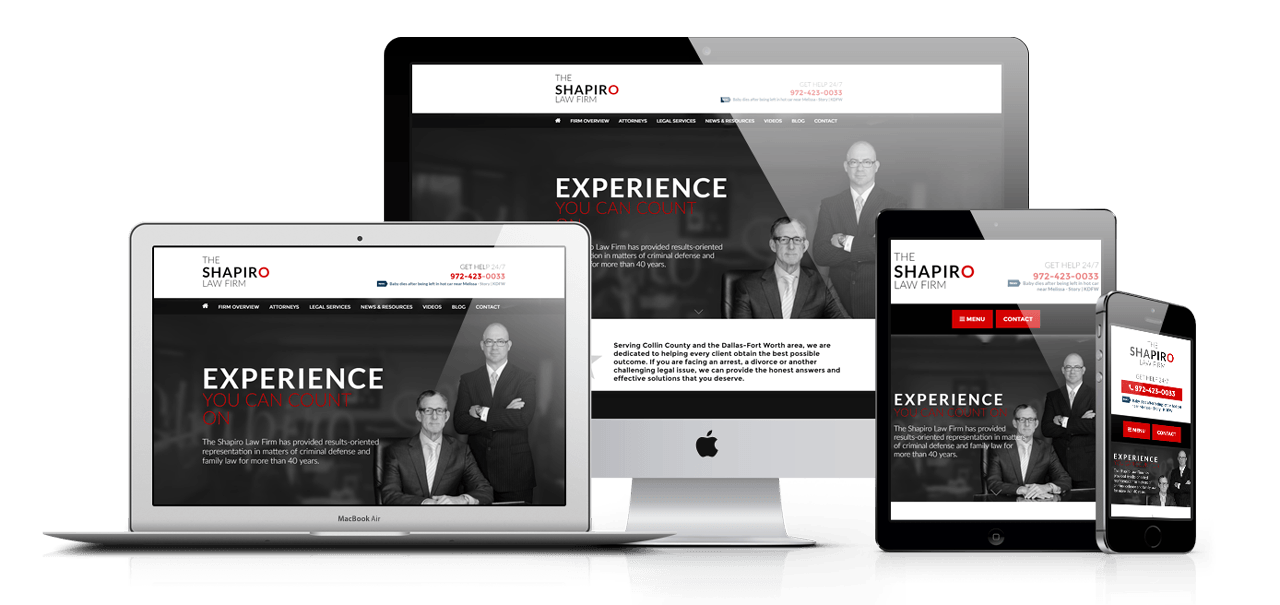 Award-winning Attorney Websites