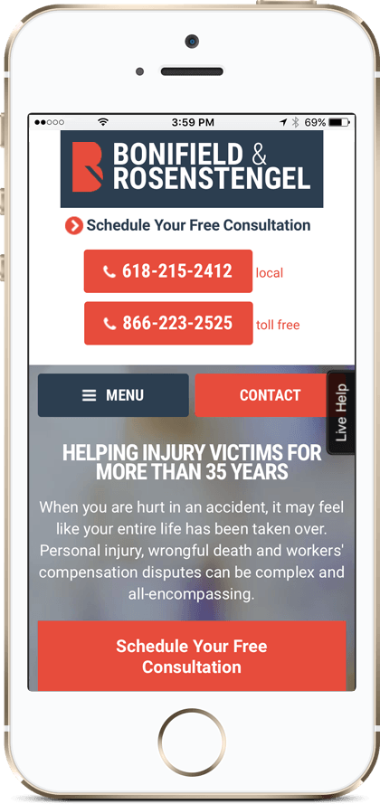 Mobile-friendly attorney websites