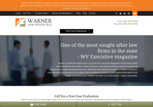 Warner Law Offices, PLLC. website thumbnail
