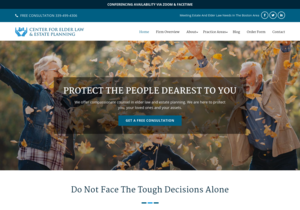 Center for Elder Law & Estate Planning website thumbnail