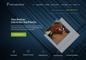 Fein Law Office website thumbnail