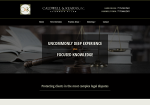 Caldwell & Kearns, P.C. website thumbnail