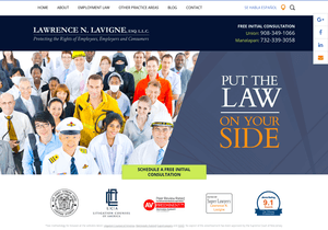 Law Offices of Lawrence N. Lavigne, LLC website thumbnail