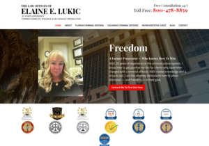 Law Offices of Elaine E. Lukic website thumbnail