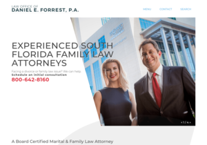 The Law Office of Daniel E. Forrest, P.A. website thumbnail