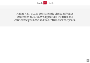 Hall & Hall, PLC website thumbnail