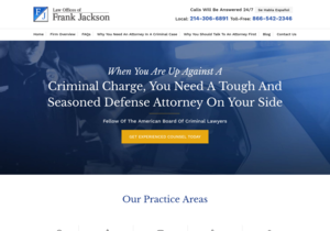 Law Offices of Frank Jackson website thumbnail