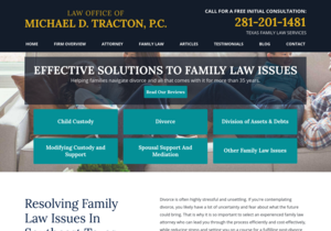 Law Office Of Michael D. Tracton website thumbnail