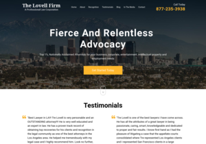 The Lovell Firm website thumbnail