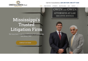 Owen, Galloway & Myers, Attorneys At Law website thumbnail