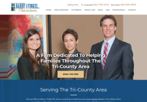 The Law Offices of Barry I. Finkel, P.A. website thumbnail